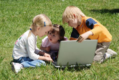 Little hackers Stock Photography