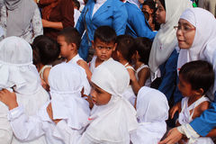 Little hajj - very busy teacher Royalty Free Stock Photography