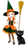 Little Halloween häxa Royaltyfri Bild
