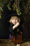 Little halloween witch Stock Images