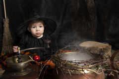 Little halloween witch Royalty Free Stock Photography