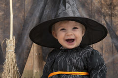 Little halloween witch Stock Photo