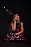 Little halloween witch Stock Photography