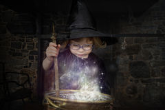 Little halloween witch Royalty Free Stock Photos
