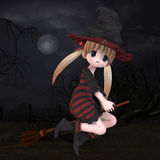 Little Hallowen Witch #02 Stock Photography