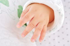 Little hand of baby Royalty Free Stock Image