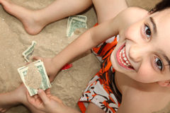 Little Hands and Feet in Sand Royalty Free Stock Photography
