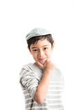 Little handsome boy portrait pose isolate Royalty Free Stock Photography