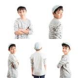 Little handsome boy portrait pose isolate Stock Photo