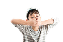 Little handsome boy portrait pose isolate Royalty Free Stock Photos