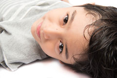 Little handsome boy portrait pose isolate Royalty Free Stock Images