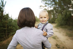 Little happy baby with mother Stock Photo