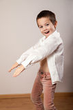 Little happy boy dancing Royalty Free Stock Photos