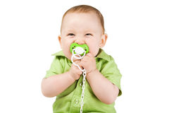 Little happy boy with nipple Royalty Free Stock Image