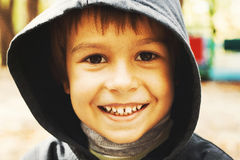 Little happy boy smiling outdoors Royalty Free Stock Photos