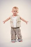 Little happy boy in studio Royalty Free Stock Photography