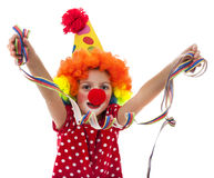 Little happy clown Royalty Free Stock Photography