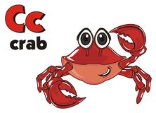 Crab and abc Royalty Free Stock Photos