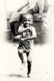 Little happy Ghanaian boy Royalty Free Stock Image