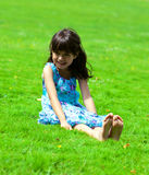 Little happy girl Stock Image