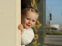 Little happy girl. Little cute happy smiling, girl Stock Images