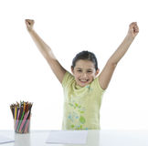Little happy girl Royalty Free Stock Image