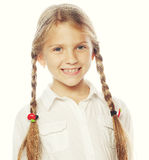 Little happy girl with big smile. Royalty Free Stock Photos