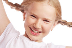 Little happy girl with big smile. Stock Photo