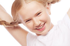 Little happy girl with big smile. Royalty Free Stock Photo
