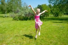Little happy girl having fun Stock Photography