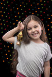 Little Happy Girl with Ramadan Lantern Stock Photos