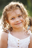 Little happy girl with wet hair Royalty Free Stock Photo