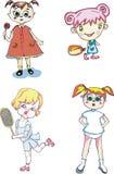 Little happy girls Royalty Free Stock Photos