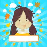 Little happy kid royalty free illustration