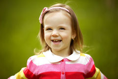 Little happy summer girl Stock Photography
