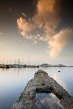 Little harbor. Boats docked in Portoferraio, Elba Island Stock Photo