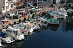 Little Harbor in Marseilles Royalty Free Stock Images