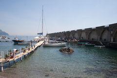 Little harbour of Amalfi. Southern Italy-Little harbour of Amalfi royalty free stock photography