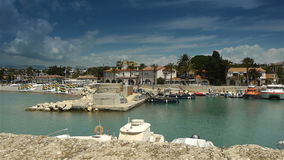 Little harbour at Cote D'Azur France stock video