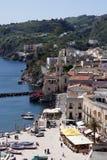 Little harbour of Lipari Stock Photo
