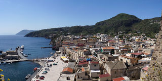 Little harbour of Lipari Royalty Free Stock Image