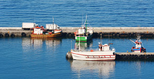 Little Harbour. Seascape with little harbour in Kalk Bay stock photo