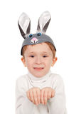 Little hare boy Royalty Free Stock Photography