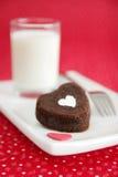 Little heart cake Stock Images