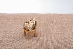 Little heart shape on a chair Stock Photos