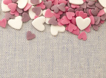 Little hearts background Stock Images