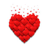 Little hearts form a big heart. Valentine's day concept. Royalty Free Stock Images