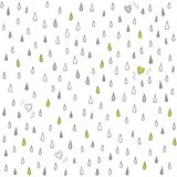 Little hearts lost in the rain on white Stock Photo