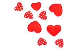 Little hearts, polka dots Royalty Free Stock Image