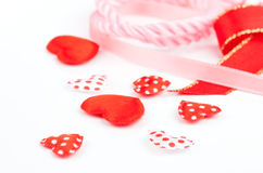 Little hearts, polka dots Stock Photo